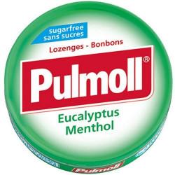 PULMOLL EUCALYPTUS MENTHOL PASTILLES SANS SUCRES 45 G